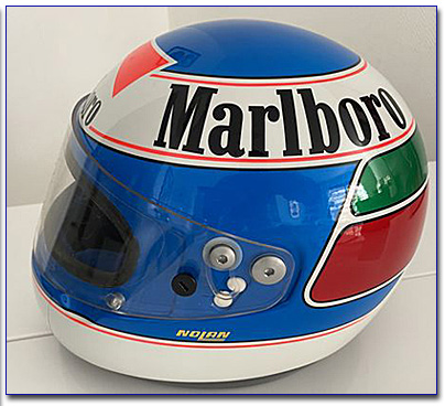 1990 Gianni Morbidelli test used helmet