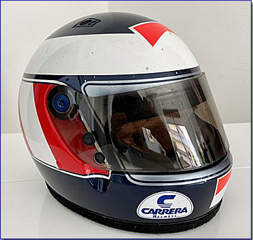 1987 Gerhard Berger race used helmet