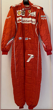 2014 Kimi Raikkonen race used suit with Ferrari CoA