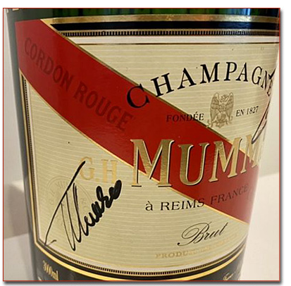 Magnum Champagne signed by Felipe Massa and Fernando Alonso