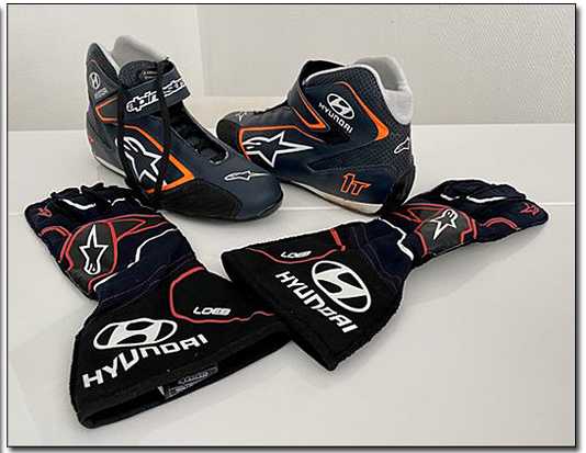 2020 Sebastien Loeb race used gloves and shoes