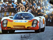 Porsche 907 / Vic Elford Targa Florio 1968 Victory – Lithograph signed by Vic Elford and Nicholas Watts - Formula 1 Memorabilia