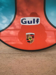 2000s Porsche Gulf illuminated double side sign