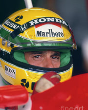 1992 Ayrton Senna race used clear Shoei visor signed -SOLD-