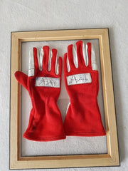 1986 Ayrton Senna race used gloves signed