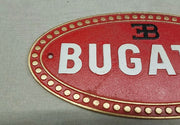 1980s Bugatti official dealer cast iron sign
