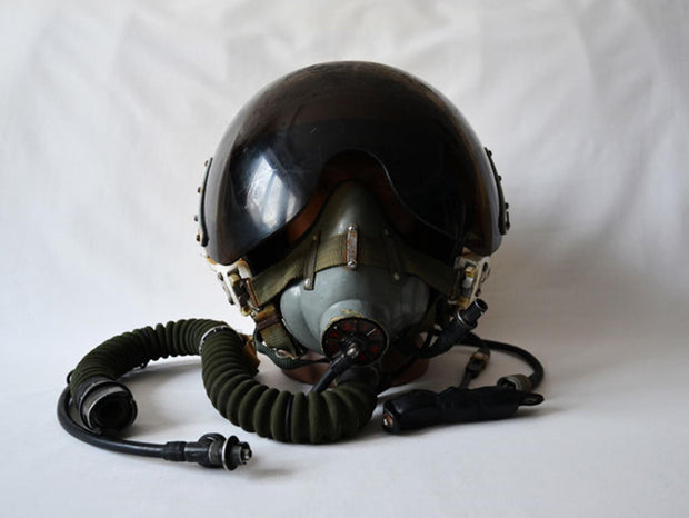 Original Russian MiG-21/29 Air Force Pilot Helmet & Oxygen Mask - Formula 1 Memorabilia