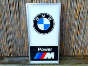 1980s BMW M Power official dealership illuminated sign