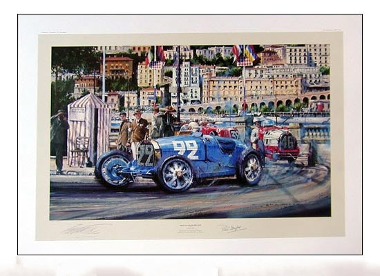 Monaco Grand Prix 1930 Signed by Rene Dreyfus by Nicolas Watts