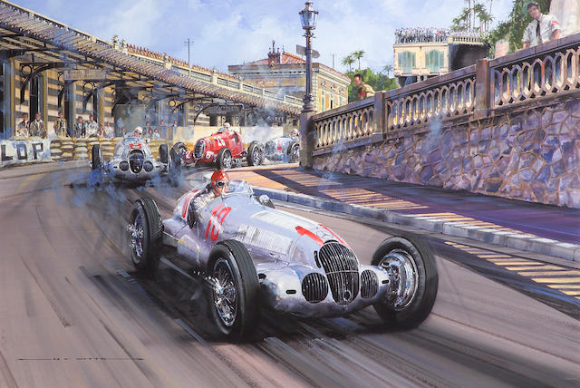 Race of the Titans - Monaco 1937 by Nicolas Watts - Formula 1 Memorabilia