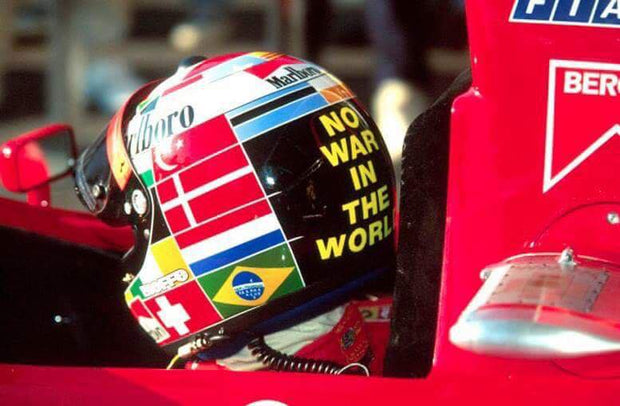 1995 Gerhard Berger replica Helmet signed