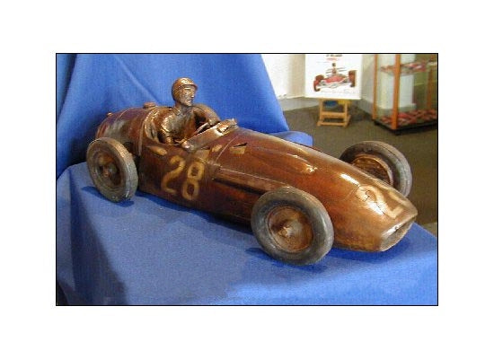 Sterling Moss Sculpture by Gordon Chism - Formula 1 Memorabilia