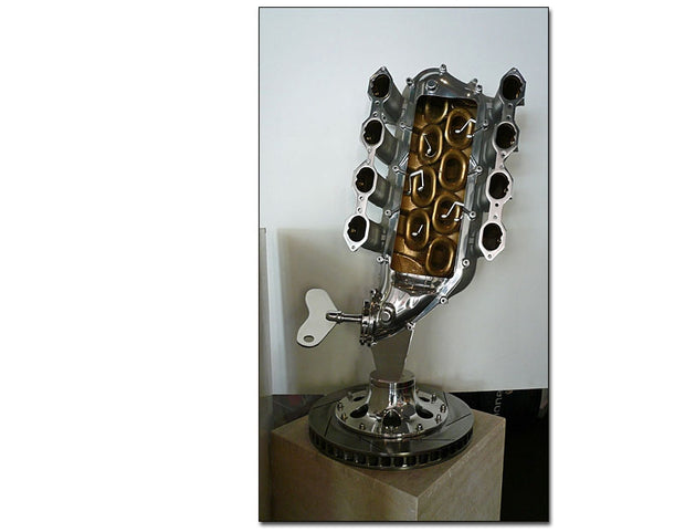 """Maserati notes"" Sculpture by Da Milano - Formula 1 Memorabilia"
