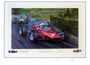 John Surtees in the Ferrari 158, Nuerburgring 1964 by Nicholas Watts - Formula 1 Memorabilia