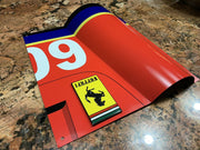 Curved Ferrari Fangio 290MM Race Car Vintage Fender Hood Style Sign - Formula 1 Memorabilia