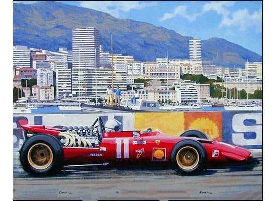 Chris Amon during the Monaco GP by Alan Kinsey - Formula 1 Memorabilia