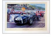 Stirling Moss in the Lotus 18, Monaco 1961 by Nicolas Watts