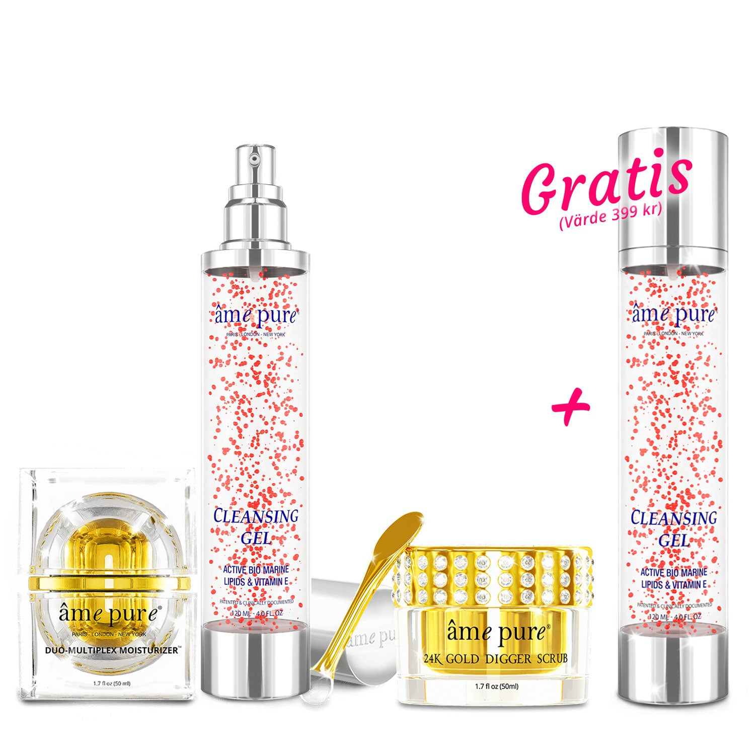 Golden Trio  + GRATIS Cleansing Gel