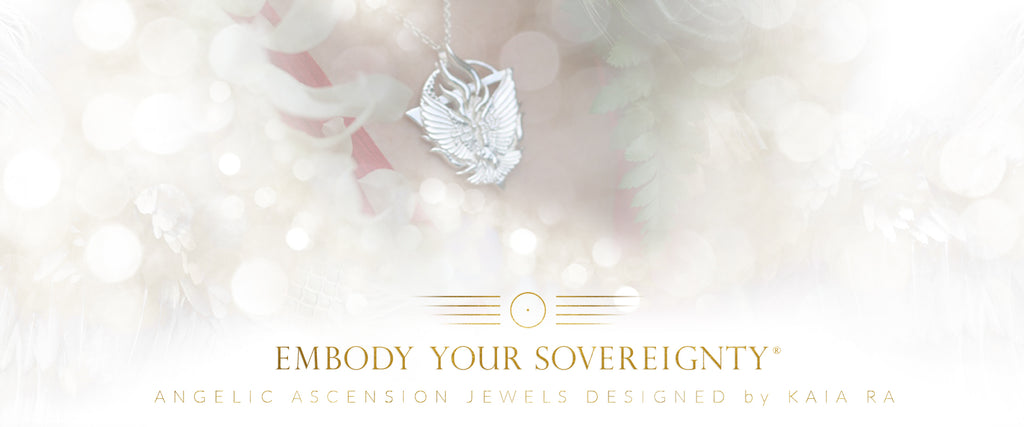 The Embody Your Sovereignty® Collection | Angelic Ascension Technology Designed by Kaia Ra  | The Sophia Code Jewelry