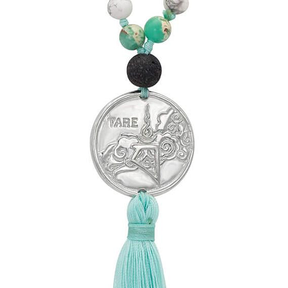 Green Tara Mala of Self-Liberation in Sterling Silver | The Sophia Code Jewelry | Kaia Ra | Spiritual Jewelry