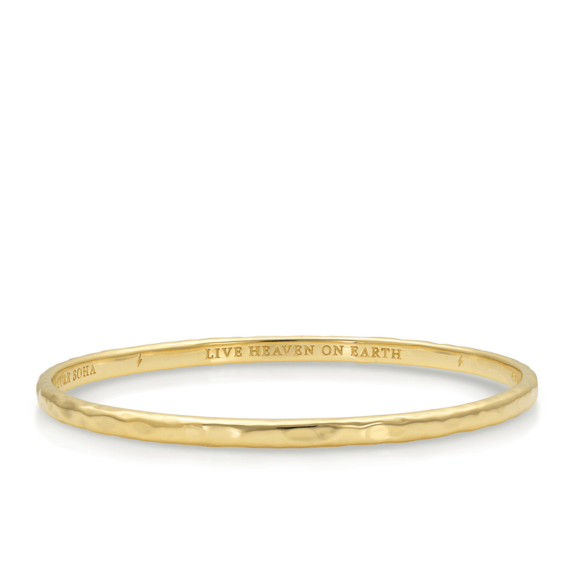 Green Tara Mantra Bangle in Gold Plate |  Kaia Ra Jewelry | Bejeweled in Sovereignty | The Sophia Code