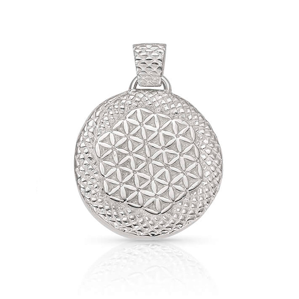 Hathor Flower of Life Stargate Pendant in Sterling Silver | Kaia Ra Jewelry | Bejeweled in Sovereignty | The Sophia Code