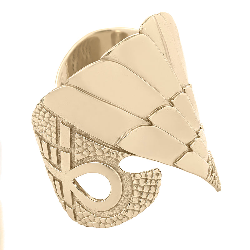 Isis Winged Prophecy Cuff in Brass | Kaia Ra Jewelry | Bejeweled in Sovereignty | The Sophia Code