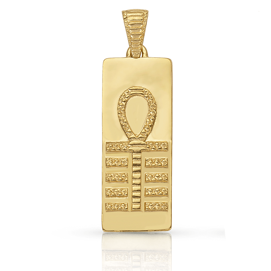 Isis Embody Your Sovereignty Pendant in Gold Plate | Anch and Djed | Kaia Ra Jewelry | Bejeweled in Sovereignty | The Sophia Code