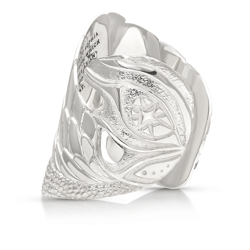 Isis Winged Prophecy Cuff in Sterling Silver | Kaia Ra Jewelry | Bejeweled in Sovereignty | The Sophia Code
