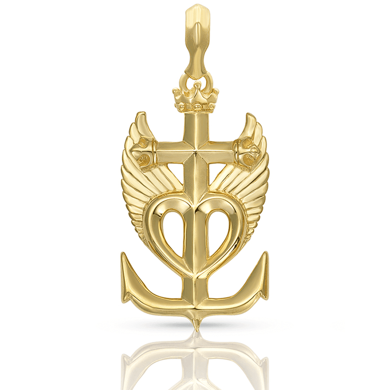 Magdalene Earth Angel Camargue Cross Pendant in Gold Plate | Kaia Ra Jewelry | Bejeweled in Sovereignty |The Sophia Code