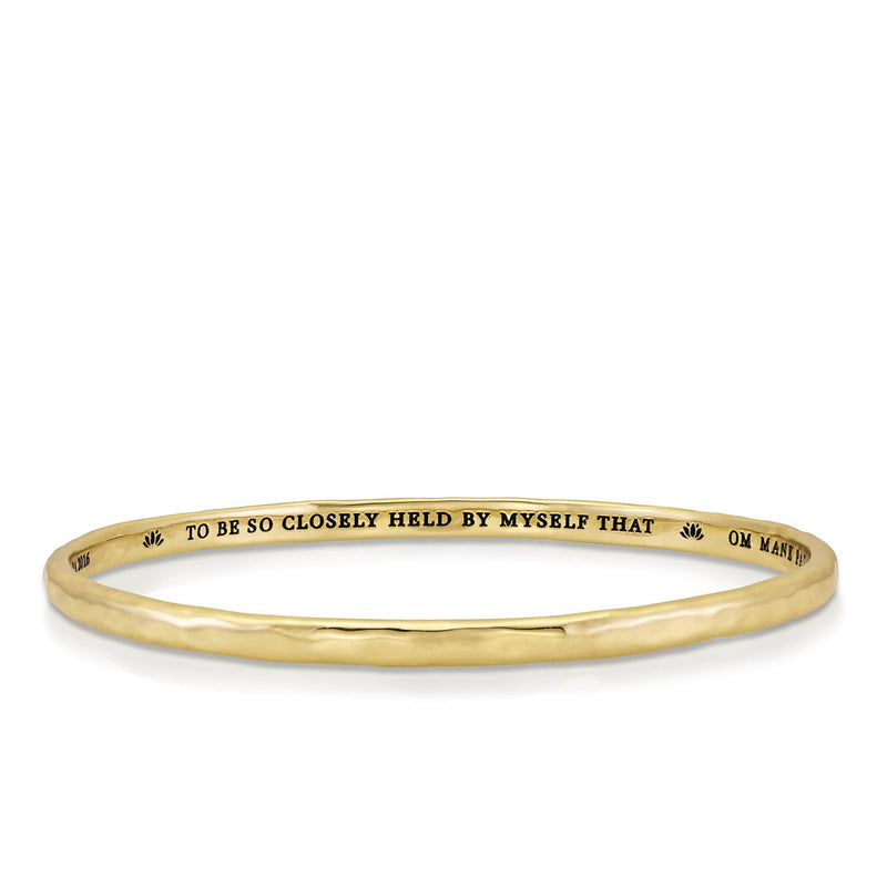 Quan Yin Mantra Bangle in Brass | Kaia Ra Jewelry | The Sophia Code | Embody Your Sovereignty