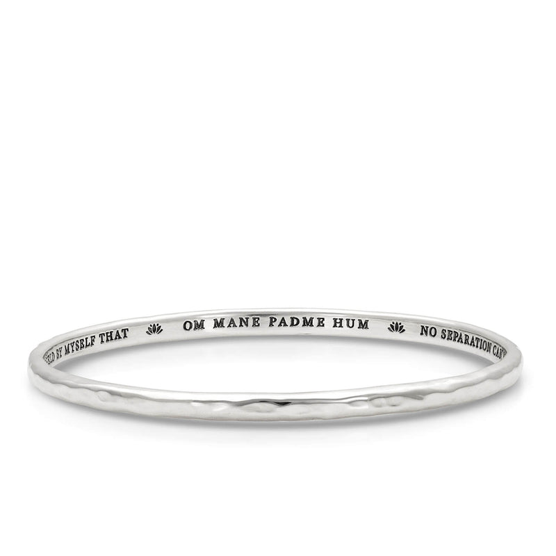 Quan Yin Mantra Bangle in Sterling Silver | Kaia Ra Jewelry | The Sophia Code | Embody Your Sovereignty