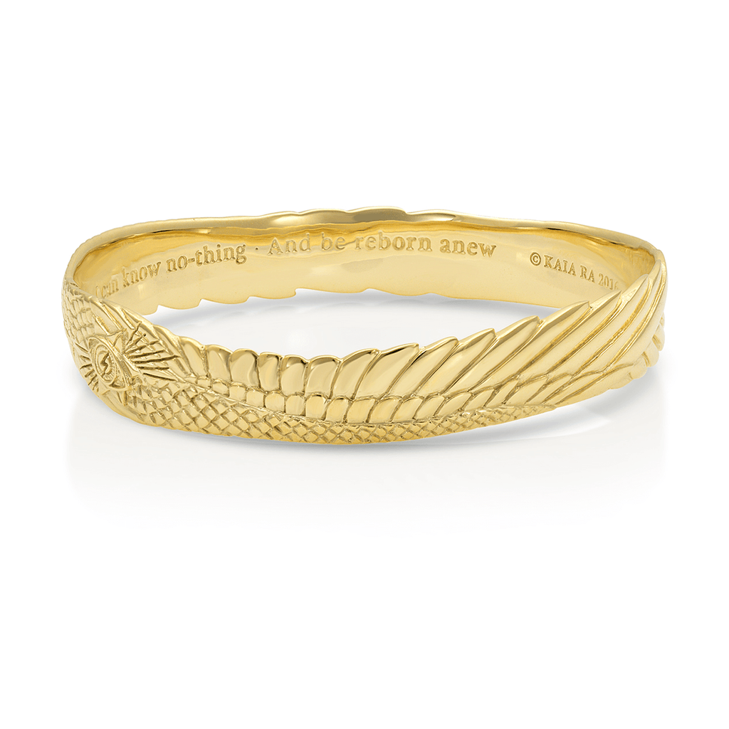 Seraphim Stargate Bangle Bracelet in Gold Vermeil | Kaia Ra Jewelry | The Sophia Code | Embody Your Sovereignty Collection
