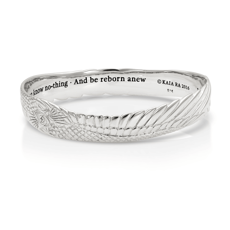 Seraphim Stargate Bangle Bracelet in Sterling Silver | Kaia Ra Jewelry | The Sophia Code | Embody Your Sovereignty Collection