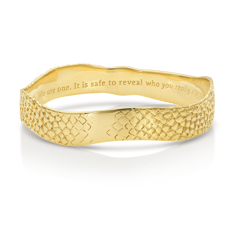 Sophia Stargate Bangle in Gold Vermeil on Solid Brass |  Kaia Ra Jewelry |  Bejeweled in Sovereignty | The Sophia Code | Embody Your Sovereignty Collection