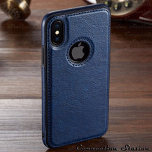 Laad afbeelding in Gallery viewer, Luxe Vintage - iPhone - Silicone PU Leer