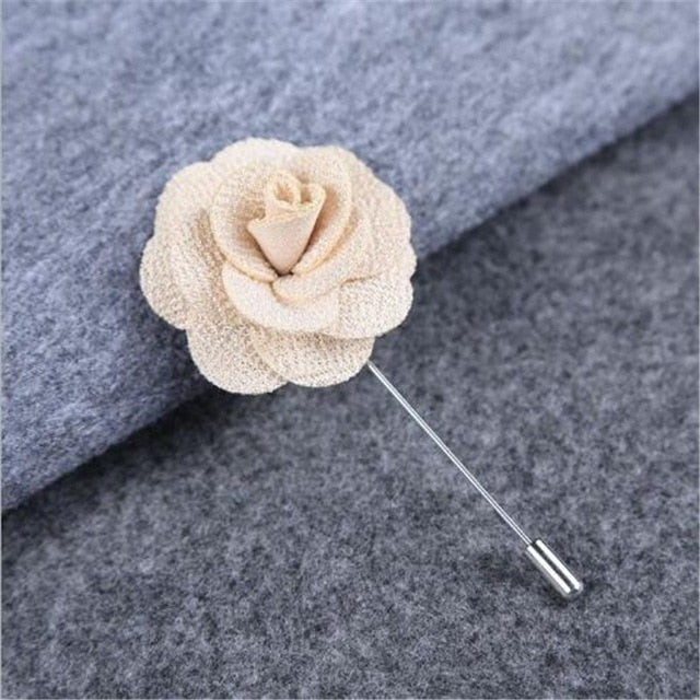 LUMPER New Lapel 17 colors Flower Daisy Handmade Boutonniere Stick Brooch  Pin Men Cool Beautiful Accessories in Party Wedding 08