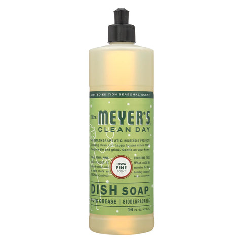 Mrs. Meyers Clean Day - Liquid Dish Soap - Iowa Pine - Case of 6 - 16 FZ