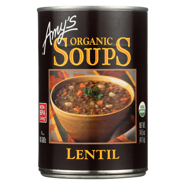 Amy's Organic Lentil Soup - Case of 12 - 14.5 oz