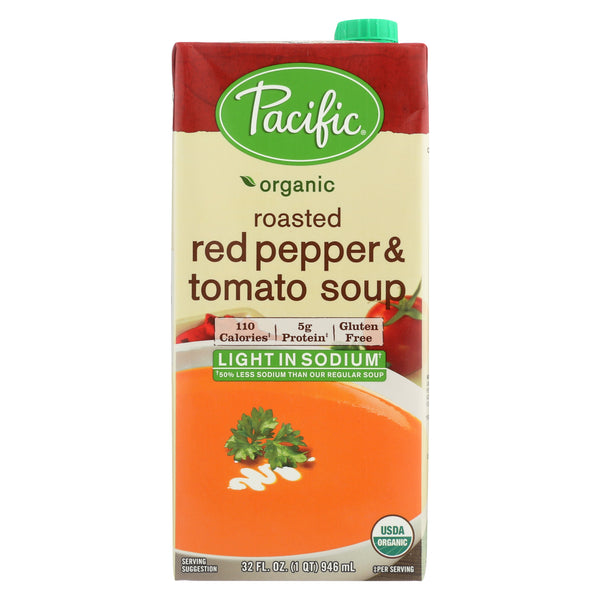 Pacific Natural Foods Creamy Tomato Soup - Low Sodium - 32 Fl oz. (Pack of 3)