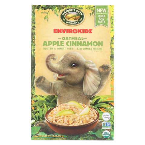 Envirokidz Organic Oatmeal - Apple Cinnamon - Case of 6 - 9 oz.