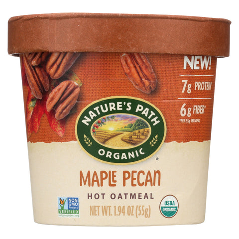 Nature's Path Organic Oatmeal - Maple Pecan - Case of 12 - 1.94 oz