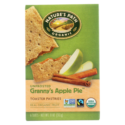 Nature's Path Organic Unfrosted Toaster Pastries - Granny's Apple Pie - Case of 12 - 11 oz.