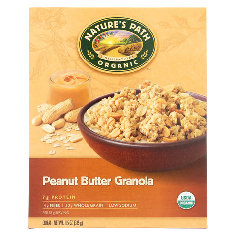 Nature's Path Organic Peanut Butter Granola - Case of 12 - 11.5 oz.
