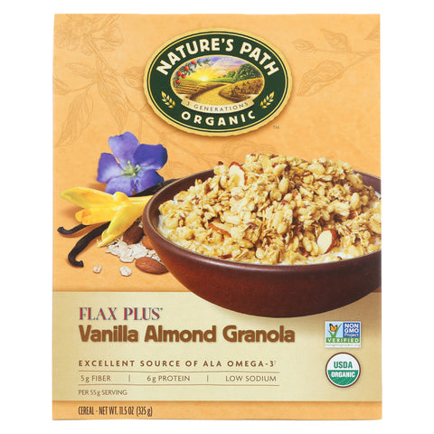 Nature's Path Organic Flax Plus Vanilla Almond Granola - Case of 12 - 11.5 oz.