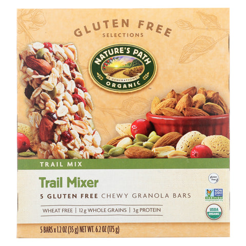 Nature's Path Organic Trail Mixer Chewy Granola Bar - Case of 6 - 6.2 oz.