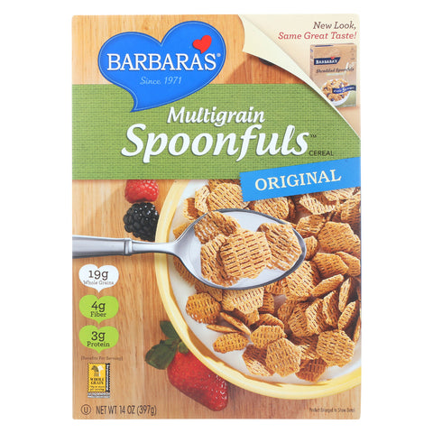 Barbara's Bakery Cereal - Original Multigrain Spoonful - 14 oz (Pack of 3)