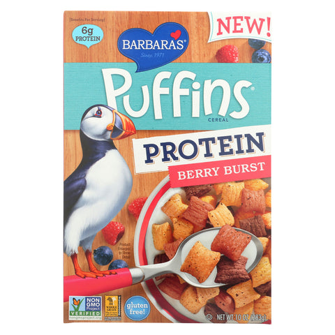 Barbara's Bakery Puffins Cereal - Berry Burst - Case of 12 - 10 oz