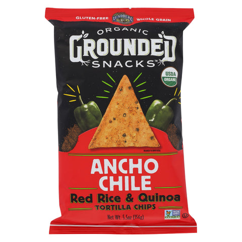 Lundberg Family Farms Organic Grounded Chips - Ancho Chile - Case of 12 - 5.5 oz