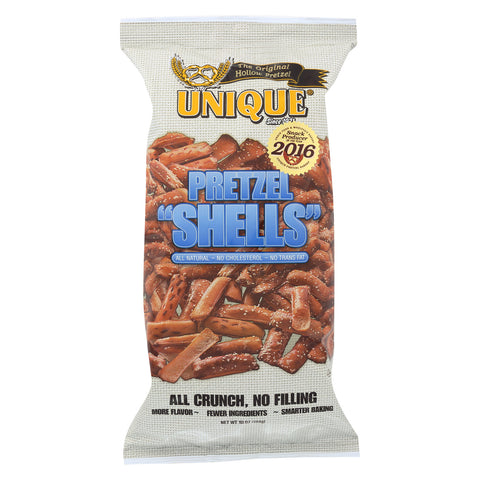 Unique Pretzels Pretzel Shells - Original - Case of 12 - 10 oz.
